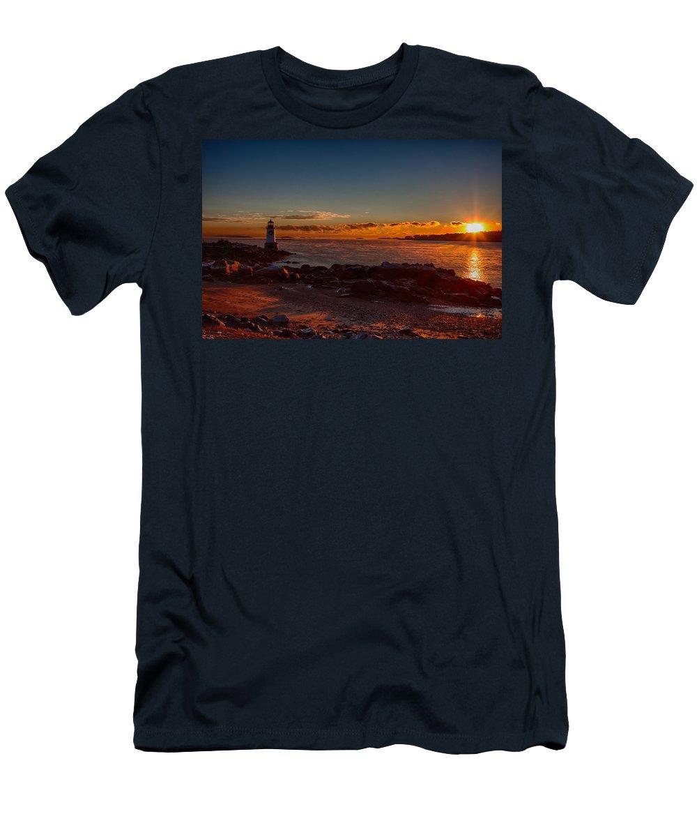 Salem Men's T-Shirt (Athletic Fit) featuring the photograph Dawn Rises by Jeff Folger