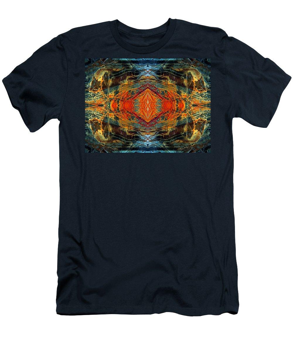 Surrealism Men's T-Shirt (Athletic Fit) featuring the digital art Decalcomaniac Intersection 2 by Otto Rapp