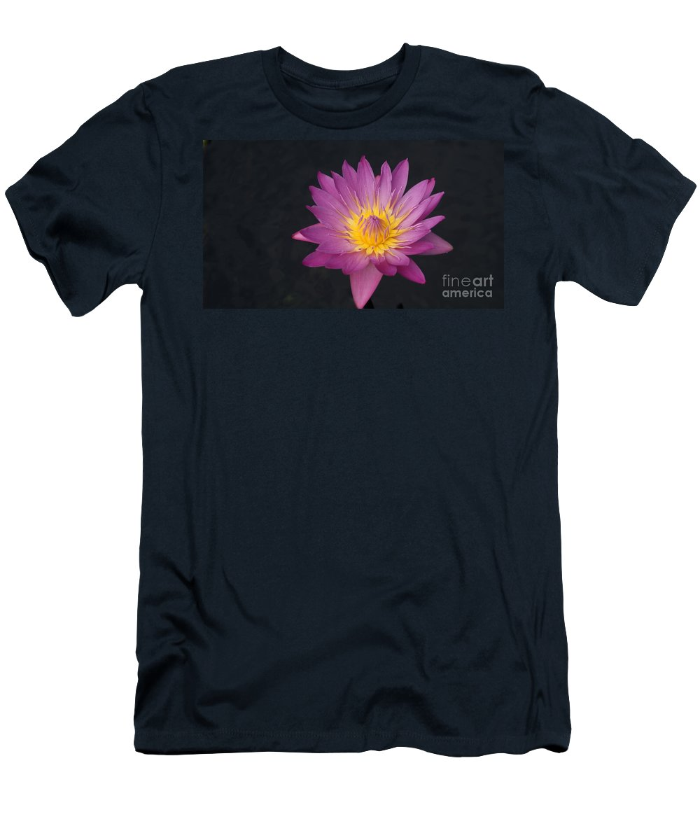 Pink Men's T-Shirt (Athletic Fit) featuring the photograph Deep Pink And Yellow... by Rob Luzier