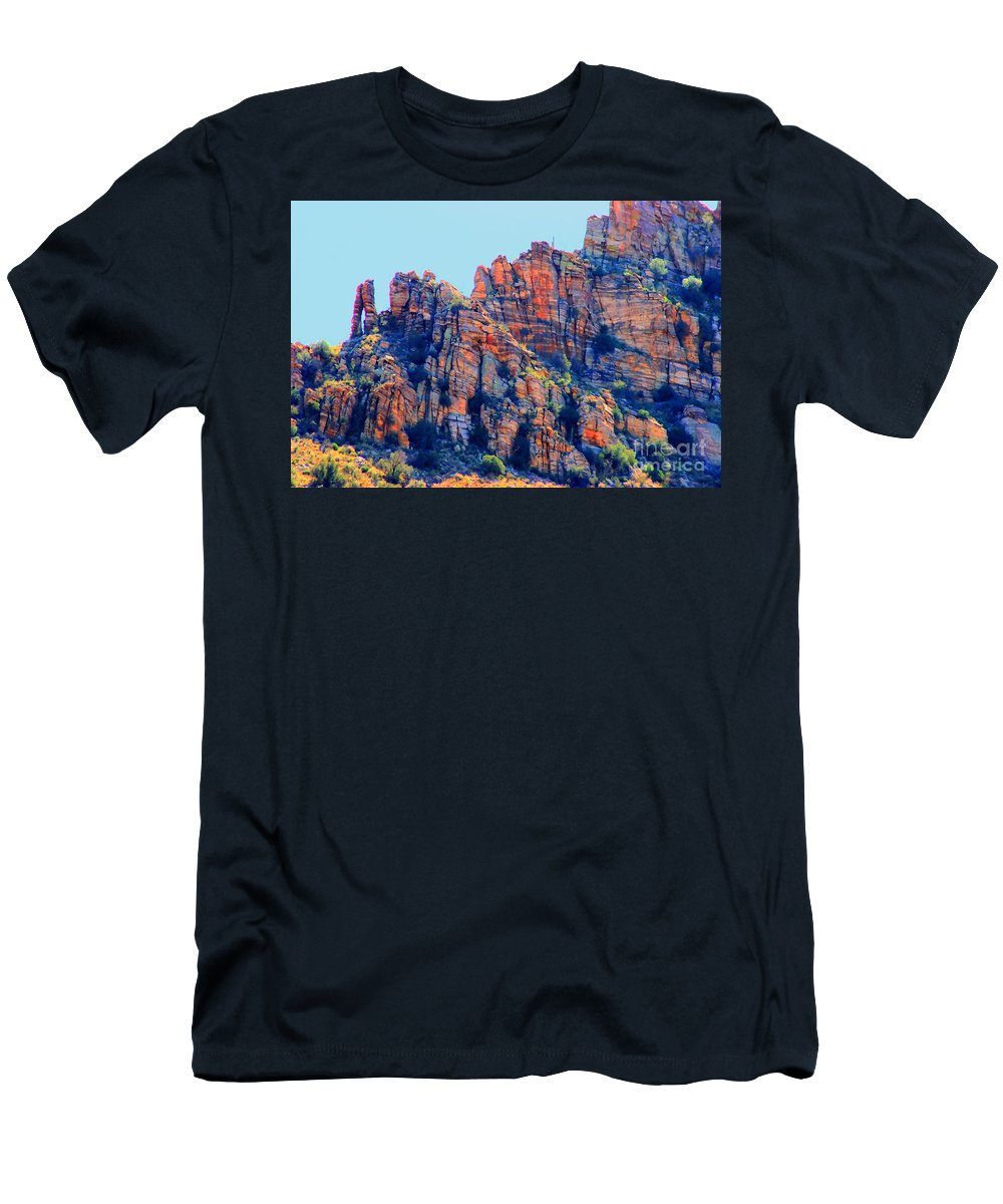 Sabino Canyon Men's T-Shirt (Athletic Fit) featuring the photograph Desert Paint by Tap On Photo