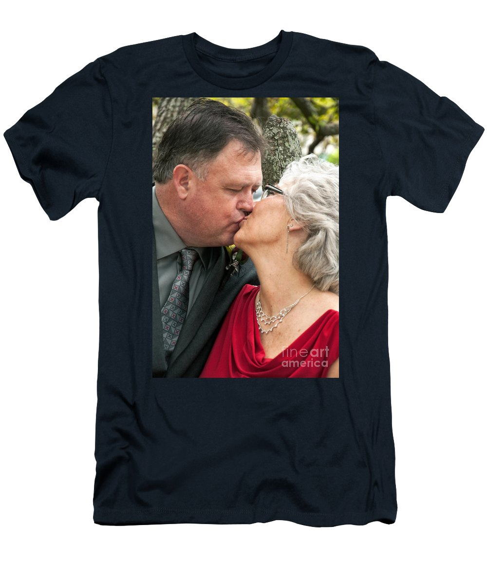 New Orleans Men's T-Shirt (Athletic Fit) featuring the photograph Destination Wedding-m And D-2 by Kathleen K Parker