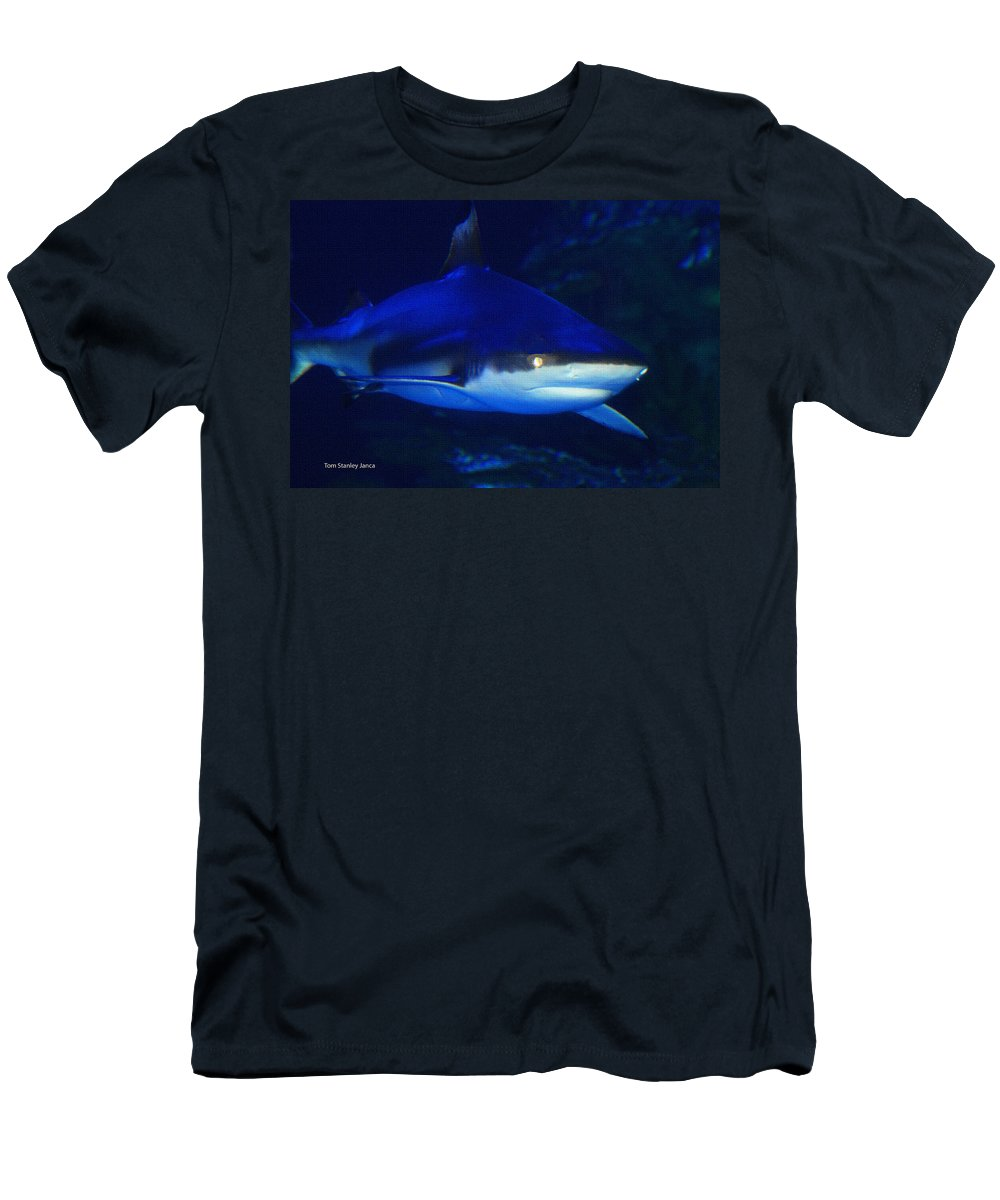 Dinner With The Sharks Men's T-Shirt (Athletic Fit) featuring the photograph Dinner With The Sharks by Tom Janca