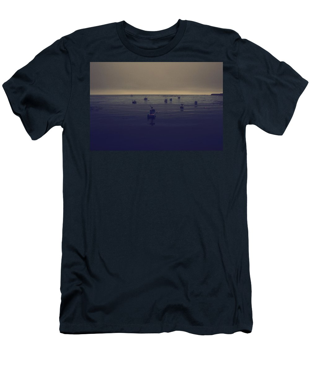 Point Arena Men's T-Shirt (Athletic Fit) featuring the photograph Done For The Day by Laurie Search