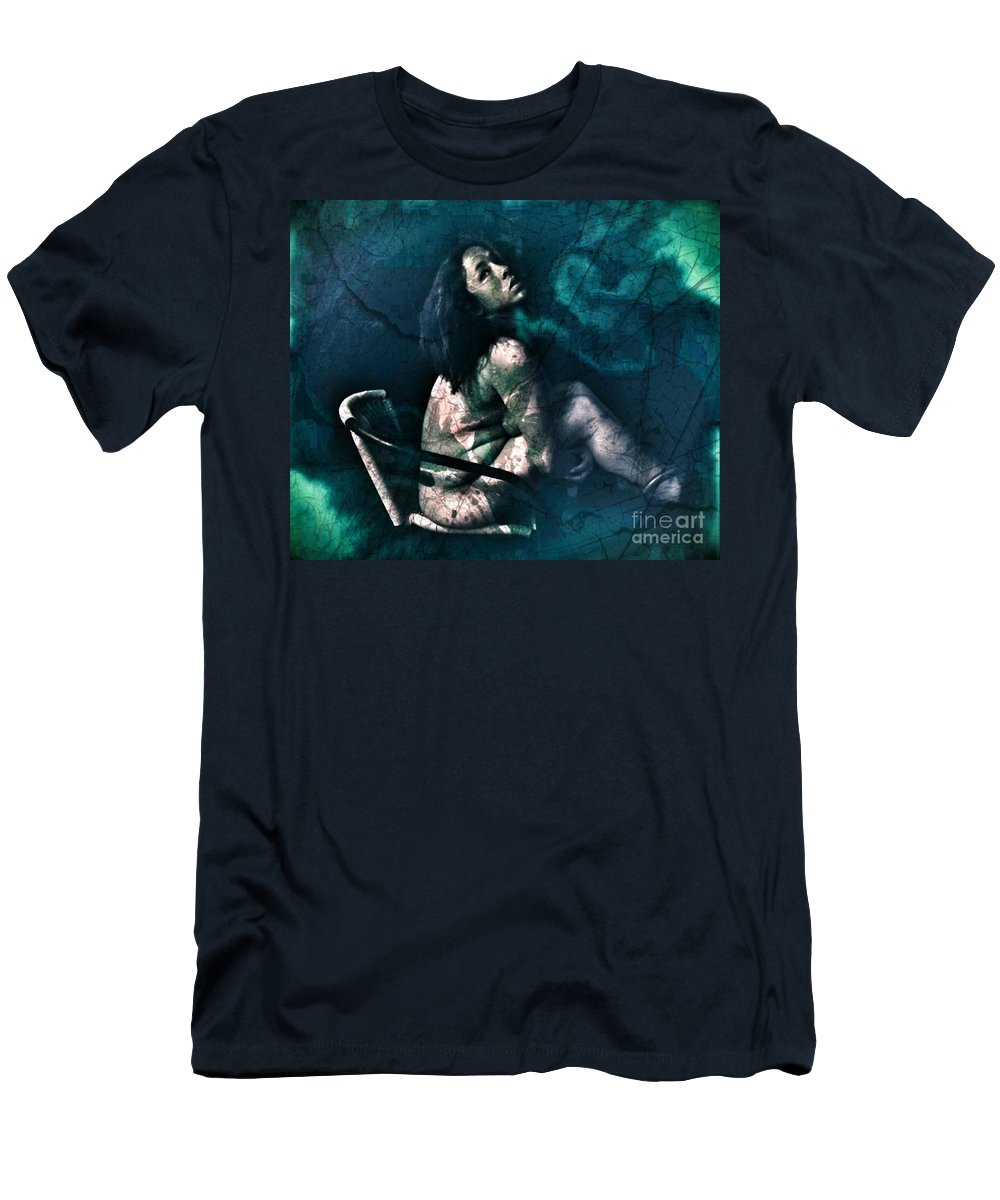 Men's T-Shirt (Athletic Fit) featuring the photograph Dont Leave Me To The Night by Jessica Shelton