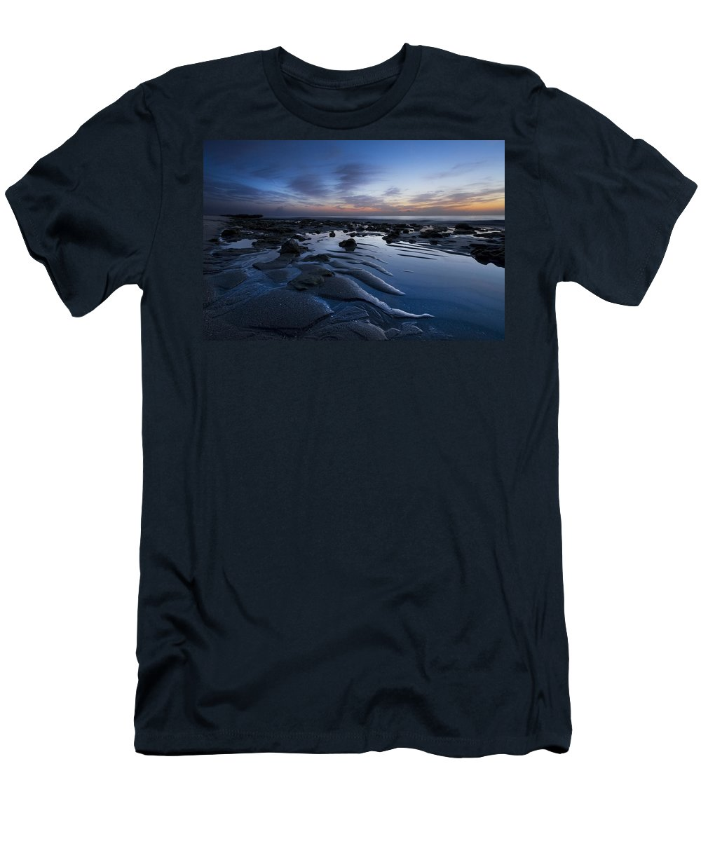 Clouds Men's T-Shirt (Athletic Fit) featuring the photograph Dreams At Dawn by Debra and Dave Vanderlaan