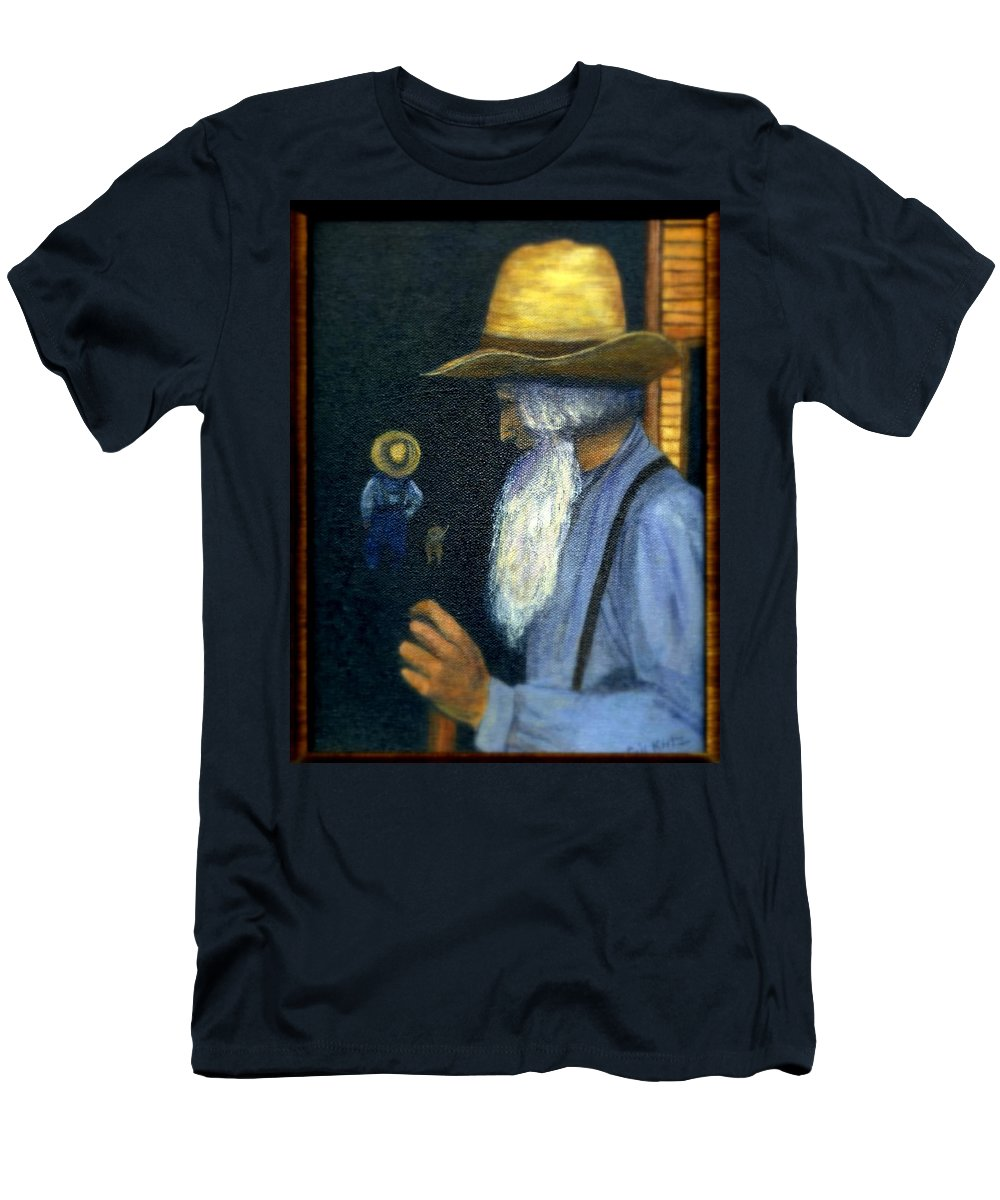 Men Men's T-Shirt (Athletic Fit) featuring the painting Eli Remembers by Gail Kirtz