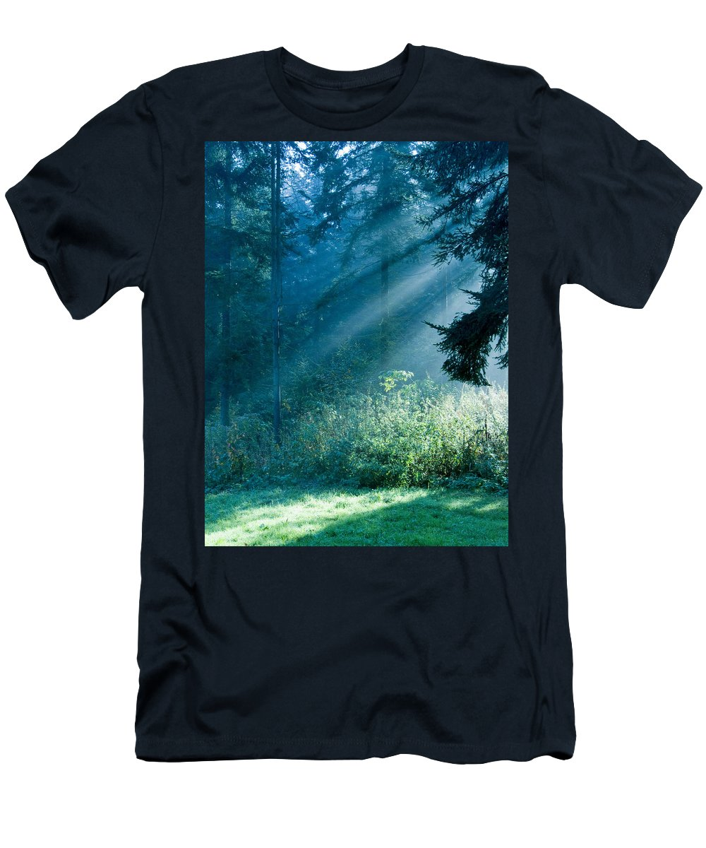 Nature Men's T-Shirt (Athletic Fit) featuring the photograph Elven Forest by Daniel Csoka