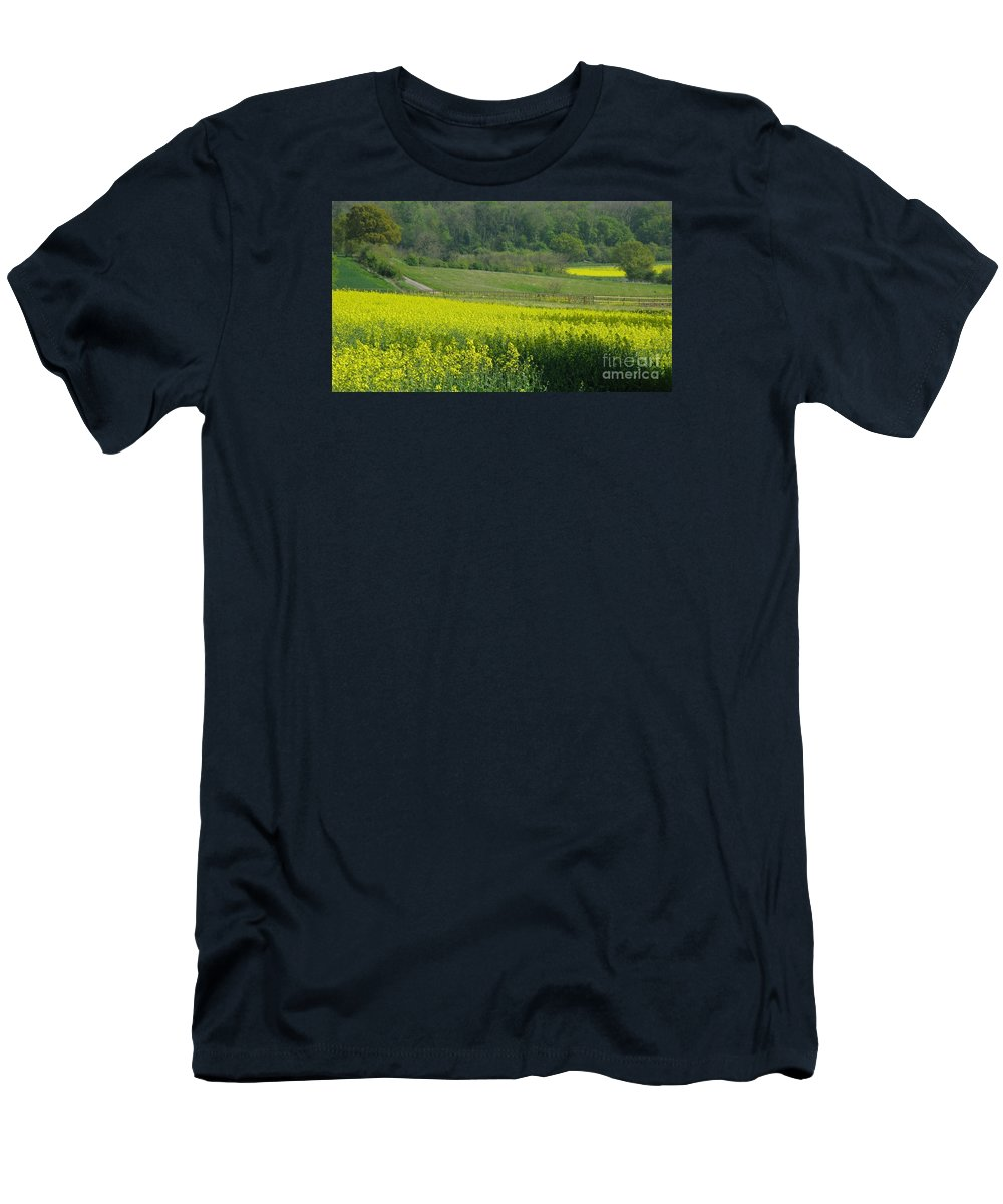 England Men's T-Shirt (Athletic Fit) featuring the photograph English Countryside by Ann Horn