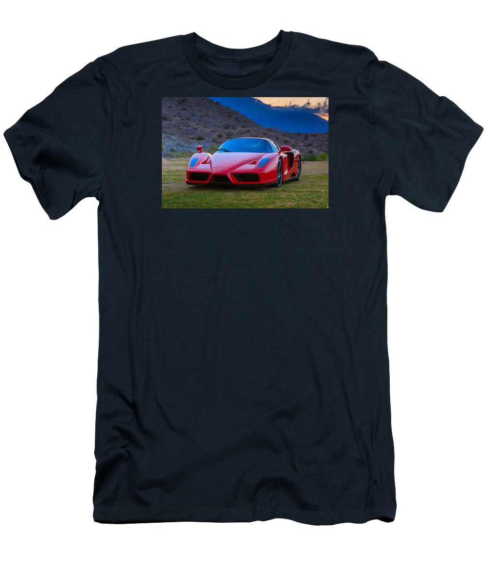 Enzo Ferrari Men's T-Shirt (Athletic Fit) featuring the photograph Enzo Ferrari Bold by Scott Campbell