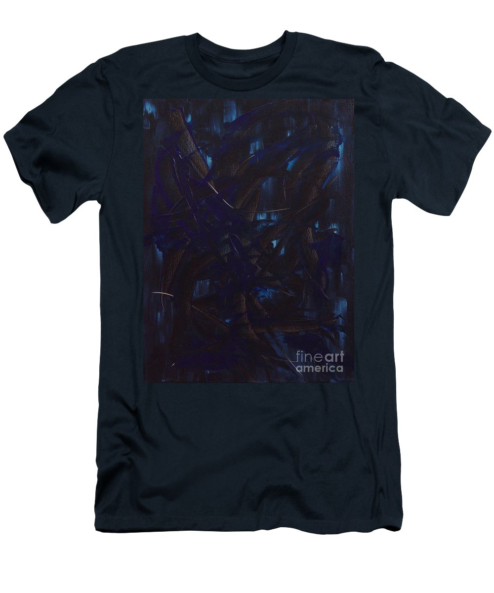 Abstract Men's T-Shirt (Athletic Fit) featuring the painting Expectations Blue by Dean Triolo