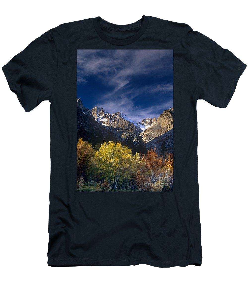 California Men's T-Shirt (Athletic Fit) featuring the photograph Fall Color Below Middle Palisades Glacier Eastern Sierras California by Dave Welling