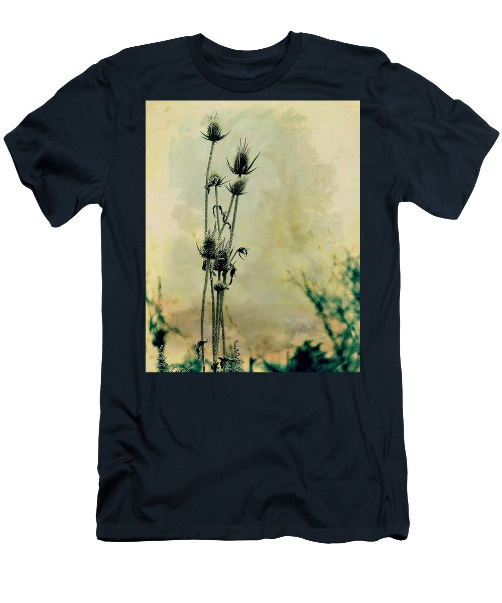 Teasels Men's T-Shirt (Athletic Fit) featuring the mixed media Family Of Teasels by Gothicrow Images