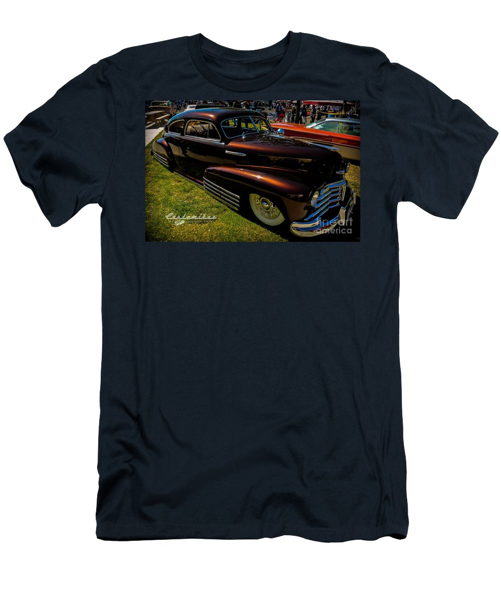 Customikes Men's T-Shirt (Athletic Fit) featuring the photograph Fastback In Kandy by Customikes Fun Photography and Film Aka K Mikael Wallin