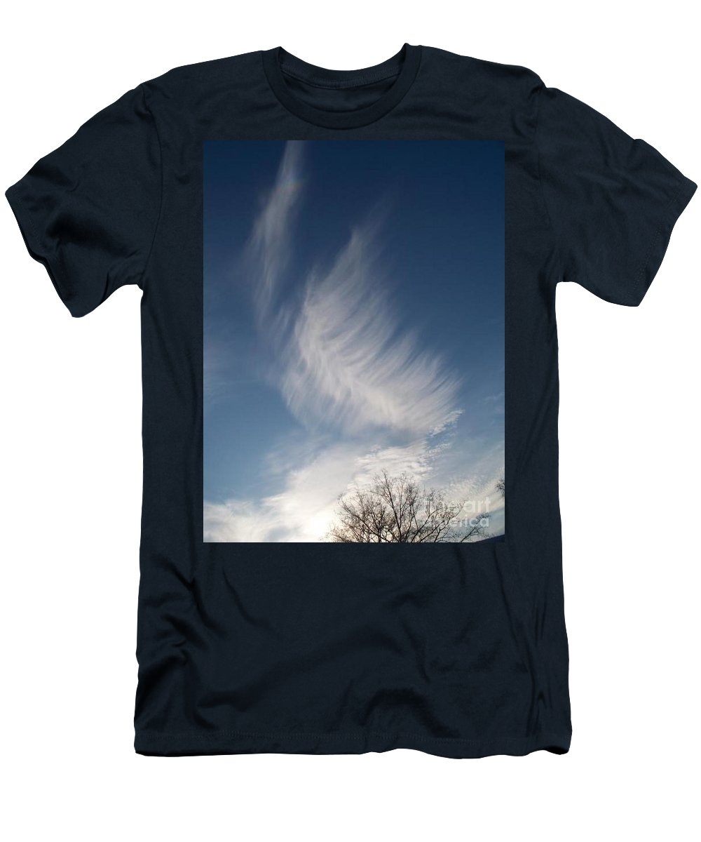 Angel Men's T-Shirt (Athletic Fit) featuring the photograph Feather Cloud By Diane Schiabor by Eric Schiabor