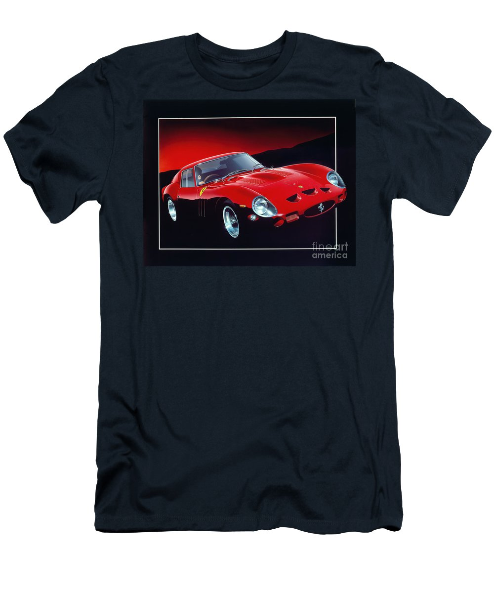 Car Men's T-Shirt (Athletic Fit) featuring the digital art Ferrari 250 Gto by Gavin Macloud