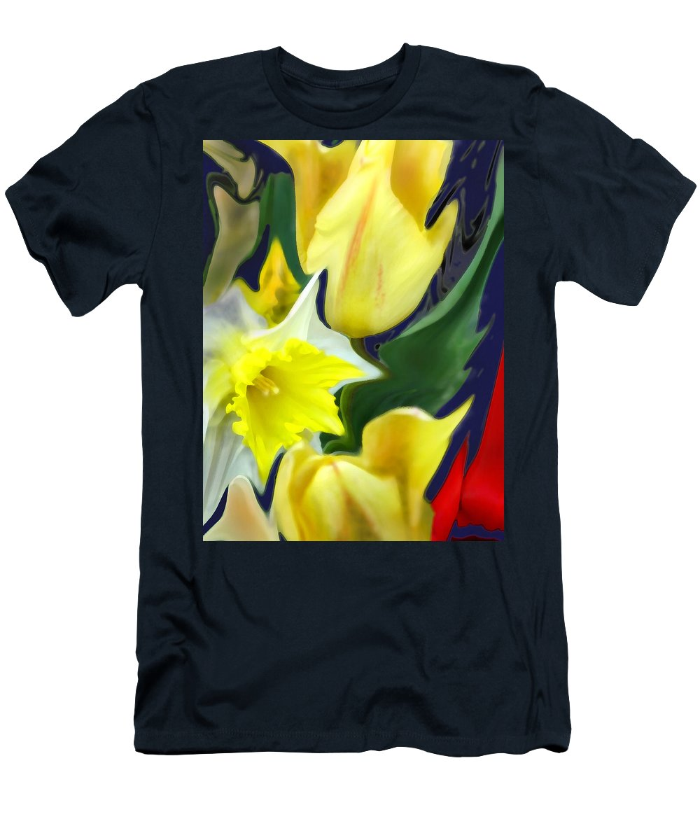 Abstract T-Shirt featuring the digital art Floral Flow by Ian MacDonald