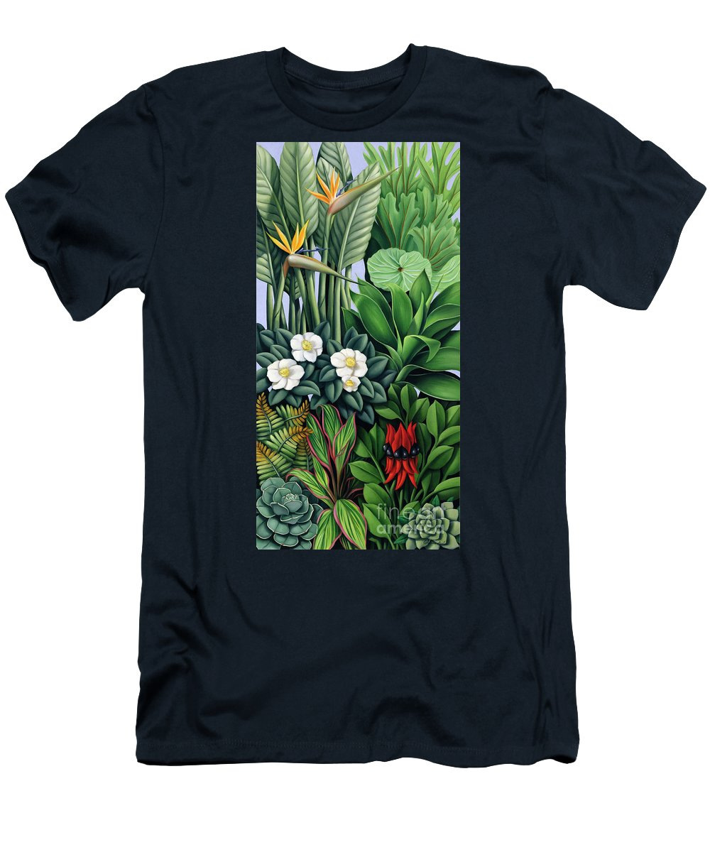 Foliage Men's T-Shirt (Athletic Fit) featuring the painting Foliage II by Catherine Abel
