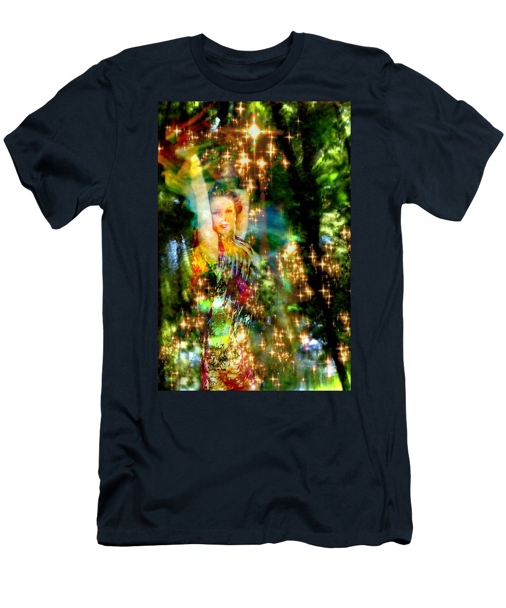 Forest Men's T-Shirt (Athletic Fit) featuring the digital art Forest Goddess 4 by Lisa Yount