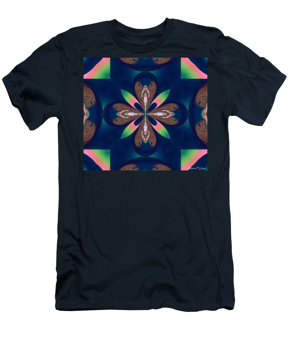 Fractal 010 Men's T-Shirt (Athletic Fit) featuring the digital art Fractal 010 by Maria Urso