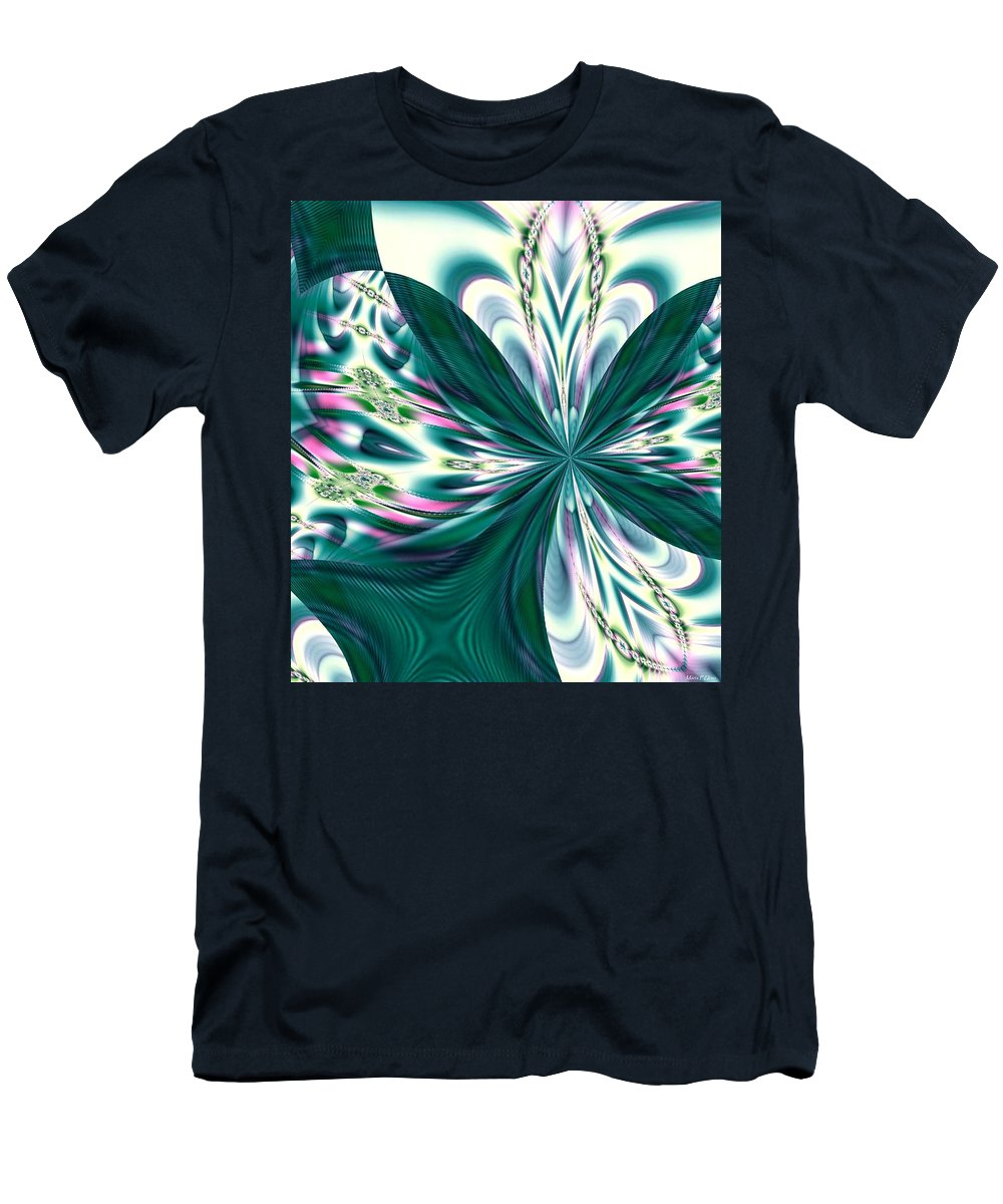 Fractal 011 Men's T-Shirt (Athletic Fit) featuring the digital art Fractal 011 by Maria Urso