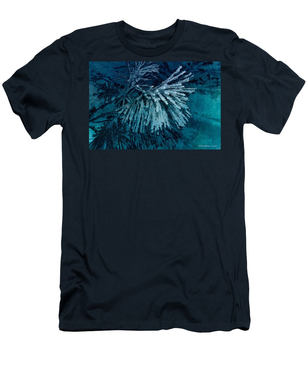 Frost Men's T-Shirt (Athletic Fit) featuring the photograph Frostneedles by WB Johnston