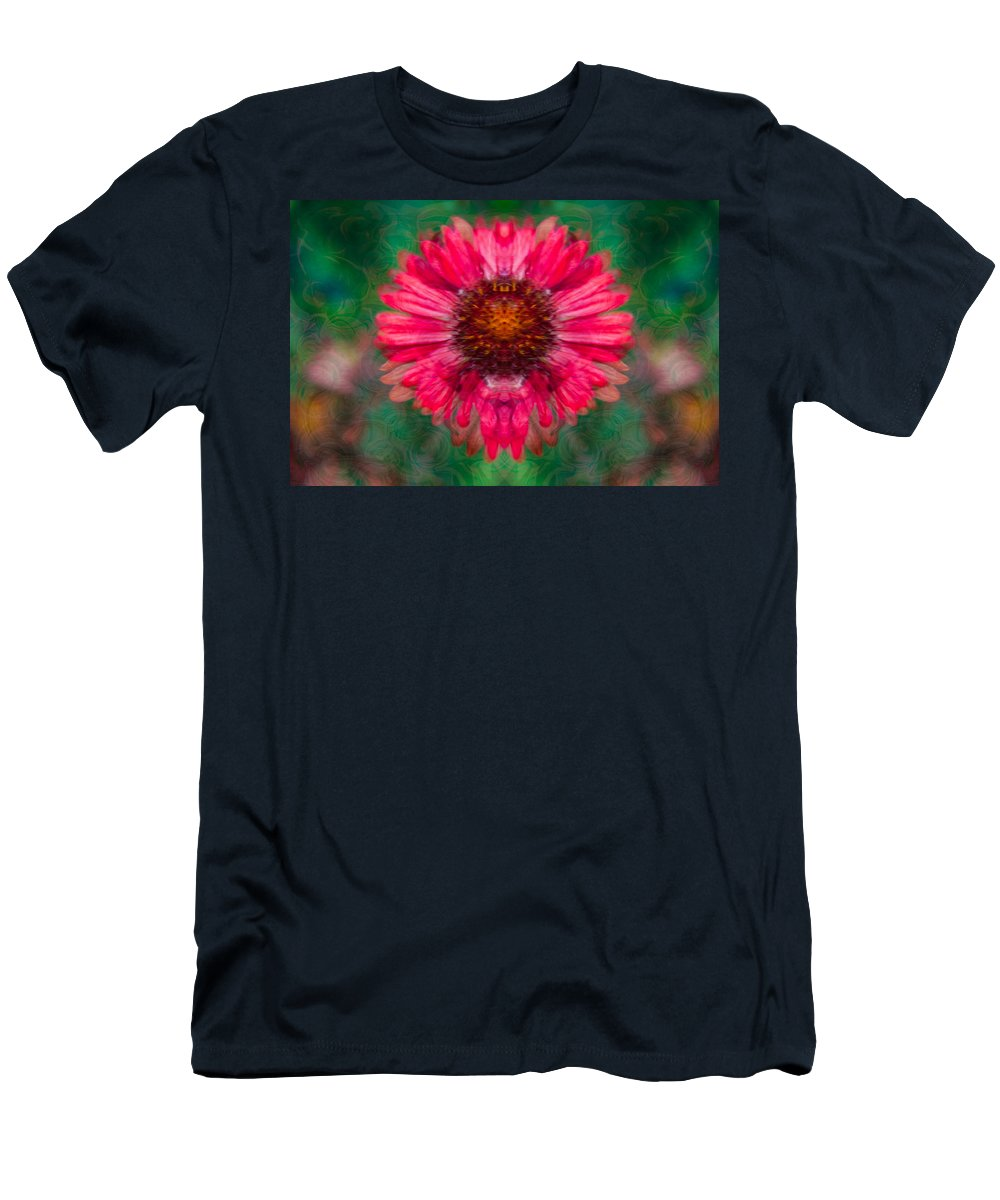 North Cascades Men's T-Shirt (Athletic Fit) featuring the painting Fuscia Queen by Omaste Witkowski