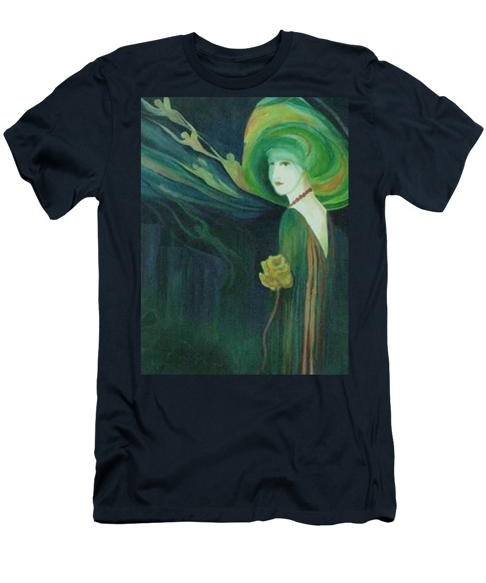 Women Men's T-Shirt (Athletic Fit) featuring the painting My Haunted Past by Carolyn LeGrand