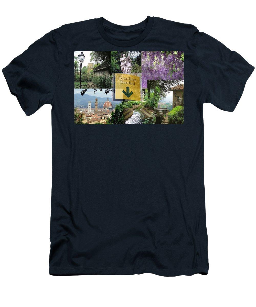 Giardino Bardini Men's T-Shirt (Athletic Fit) featuring the photograph Giardino Bardini by Ellen Henneke