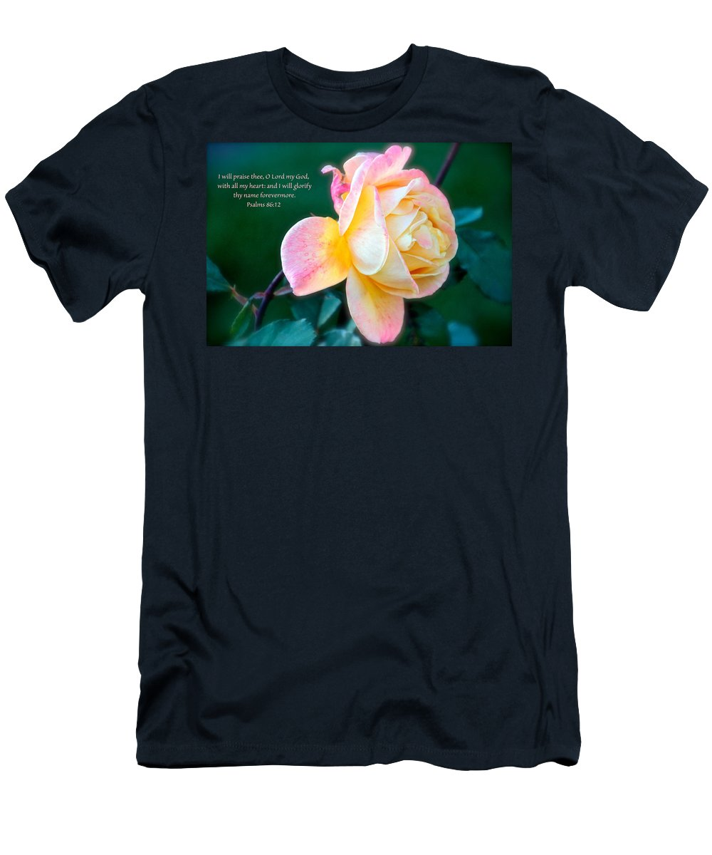 Rose Men's T-Shirt (Athletic Fit) featuring the photograph Glorify by Debbie Nobile