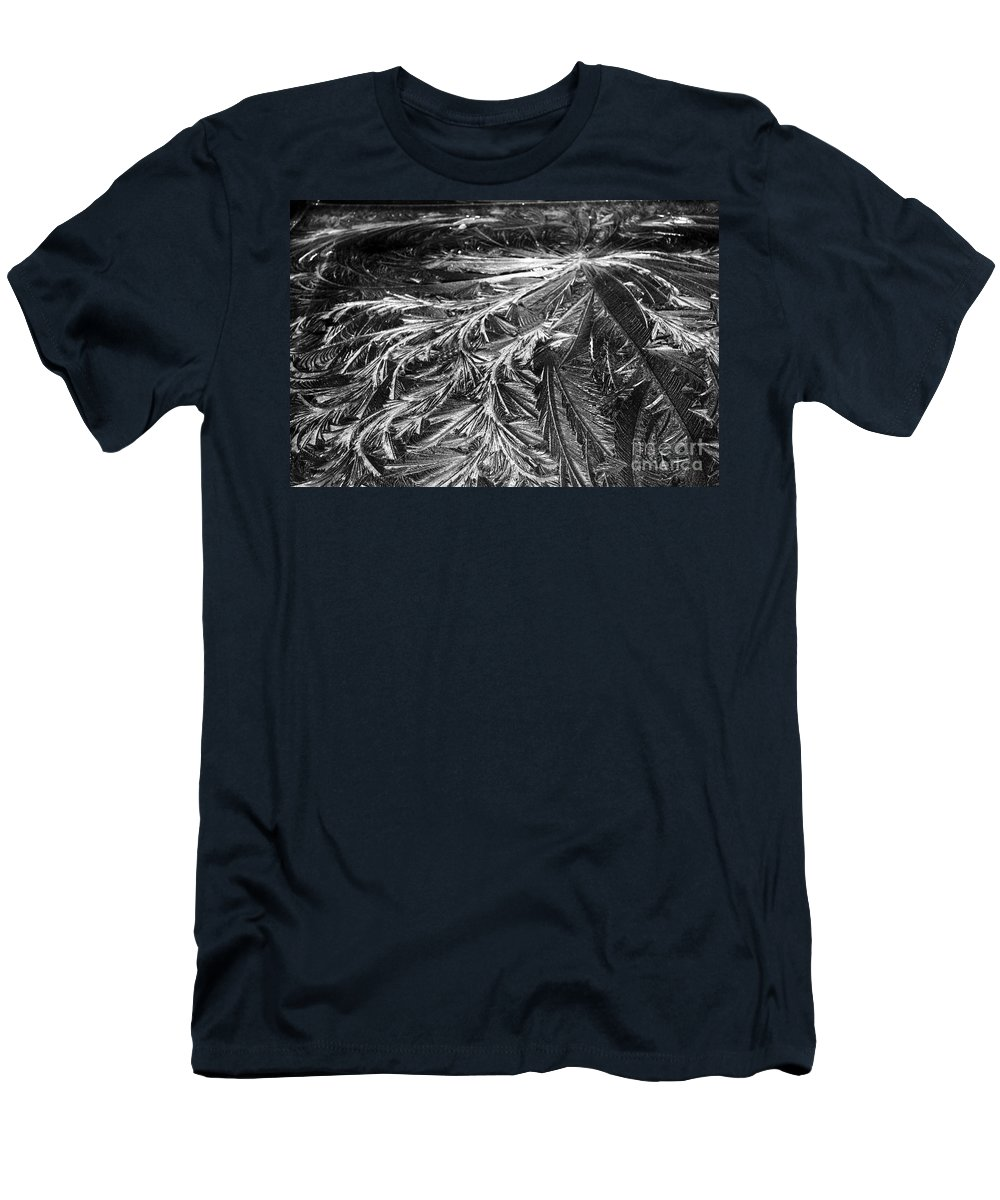 Ice Men's T-Shirt (Athletic Fit) featuring the photograph Glowing Ice by Judy Wolinsky
