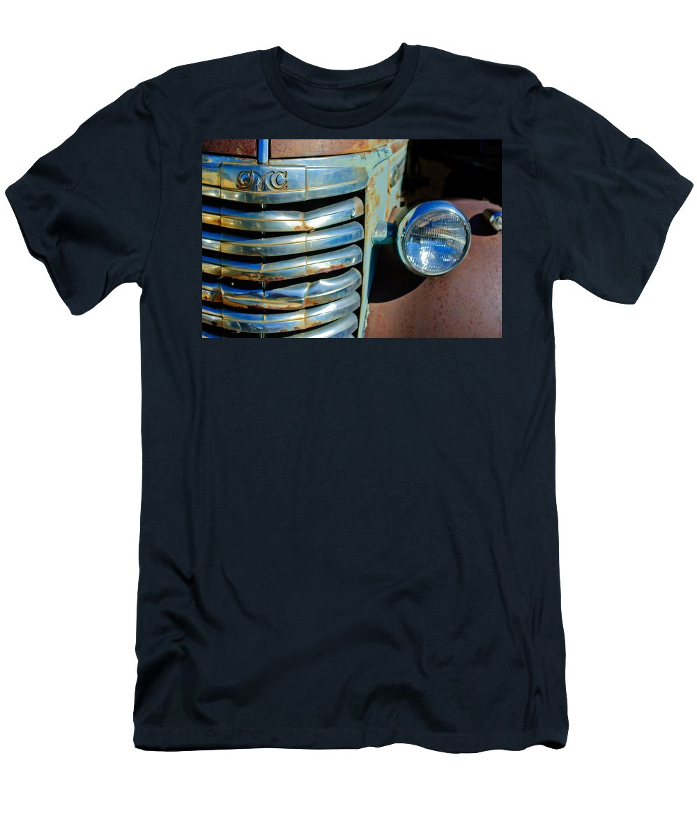 Gmc Truck Grille Emblem Men's T-Shirt (Athletic Fit) featuring the photograph Gmc Truck Grille Emblem by Jill Reger