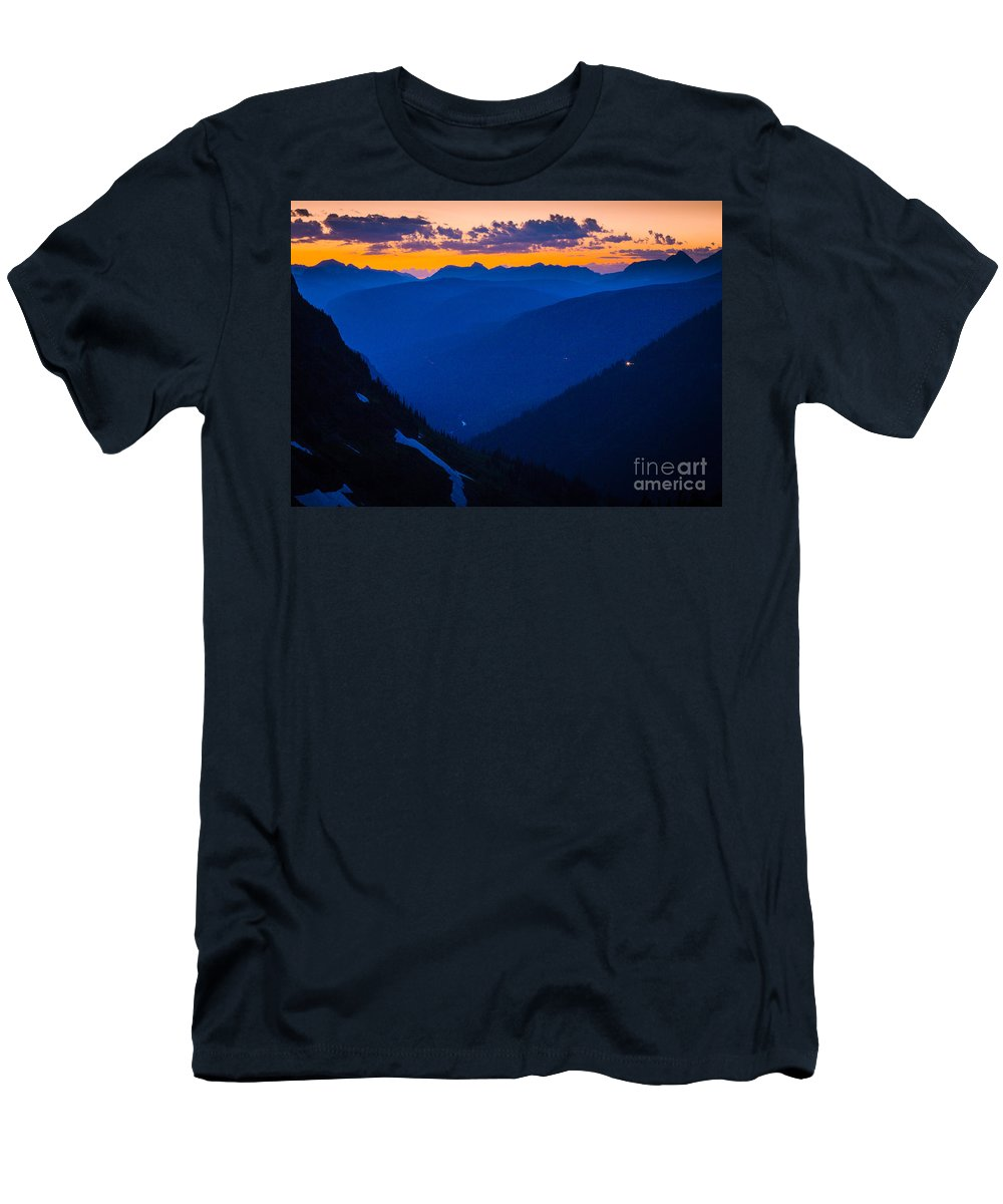 America Men's T-Shirt (Athletic Fit) featuring the photograph Going-to-the-sun Sunset by Inge Johnsson