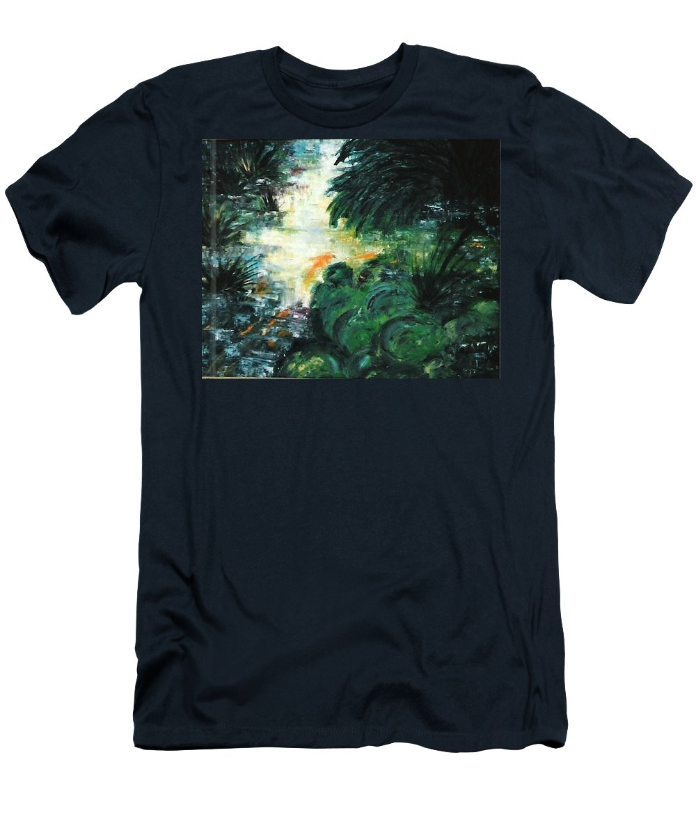 Stolen Men's T-Shirt (Athletic Fit) featuring the painting Gold Fish by Lord Frederick Lyle Morris