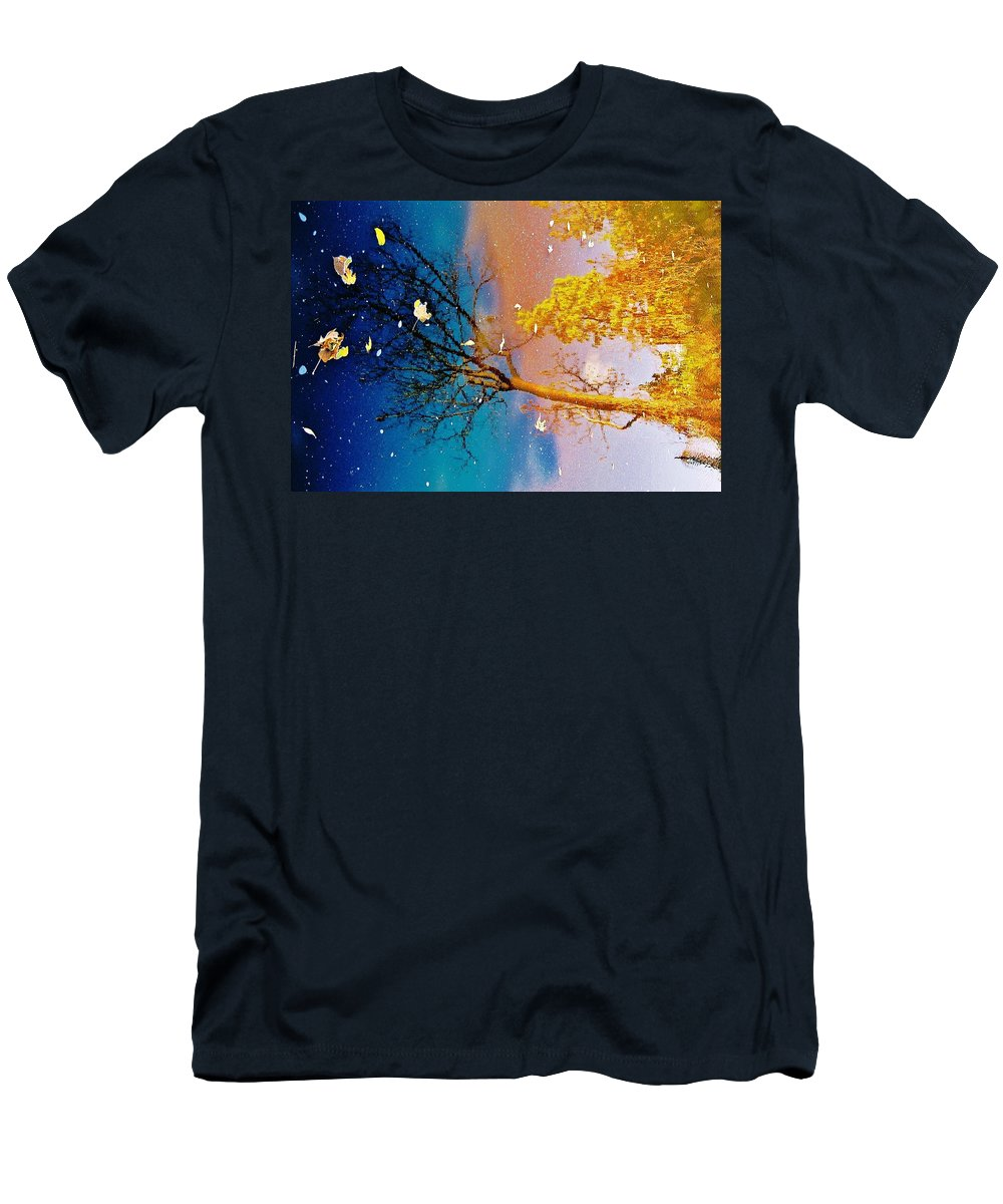 The Grand River Men's T-Shirt (Athletic Fit) featuring the photograph Grand Reflections # 1 by Daniel Thompson