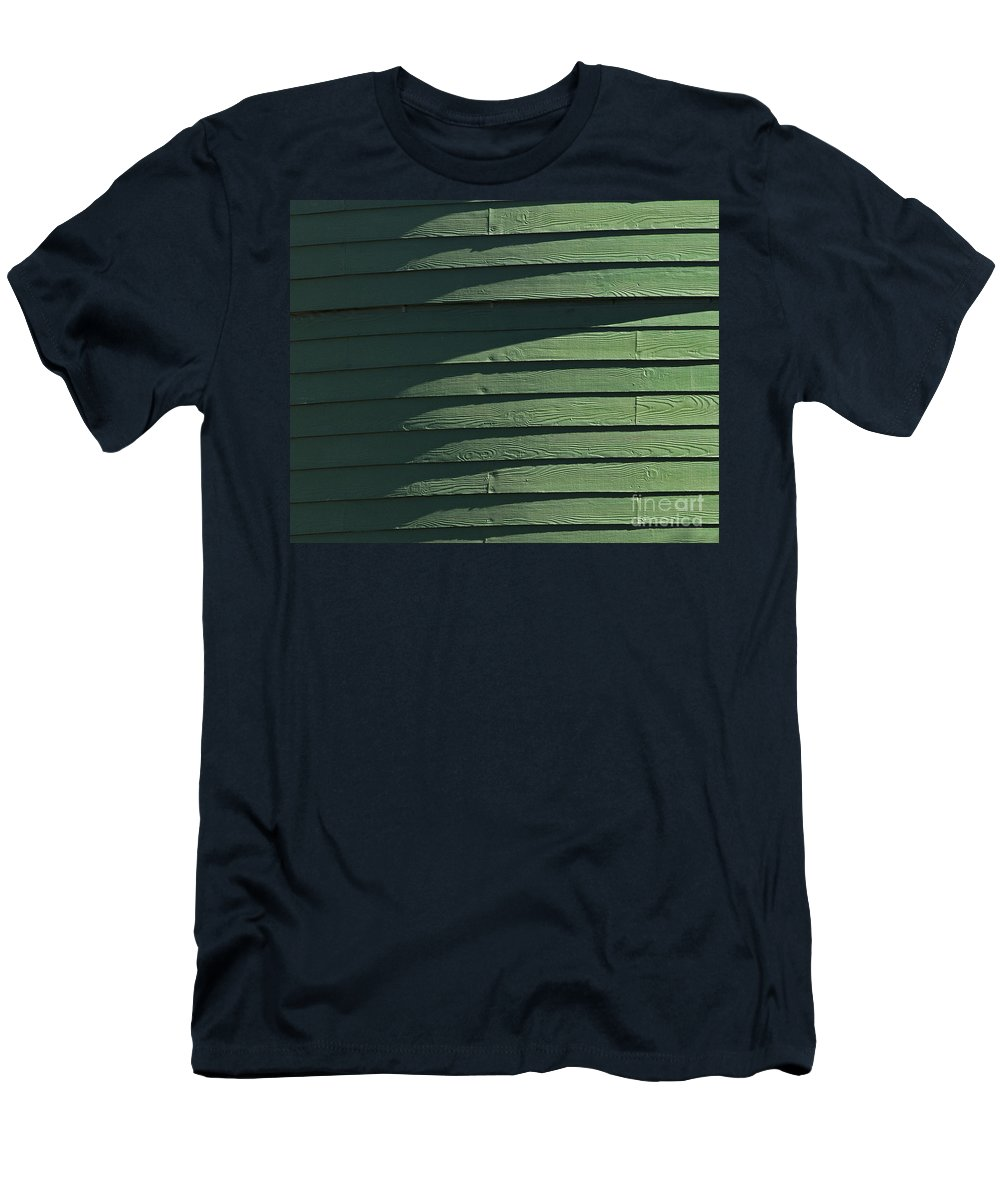 Green Men's T-Shirt (Athletic Fit) featuring the photograph Green Facade by Roy Thoman