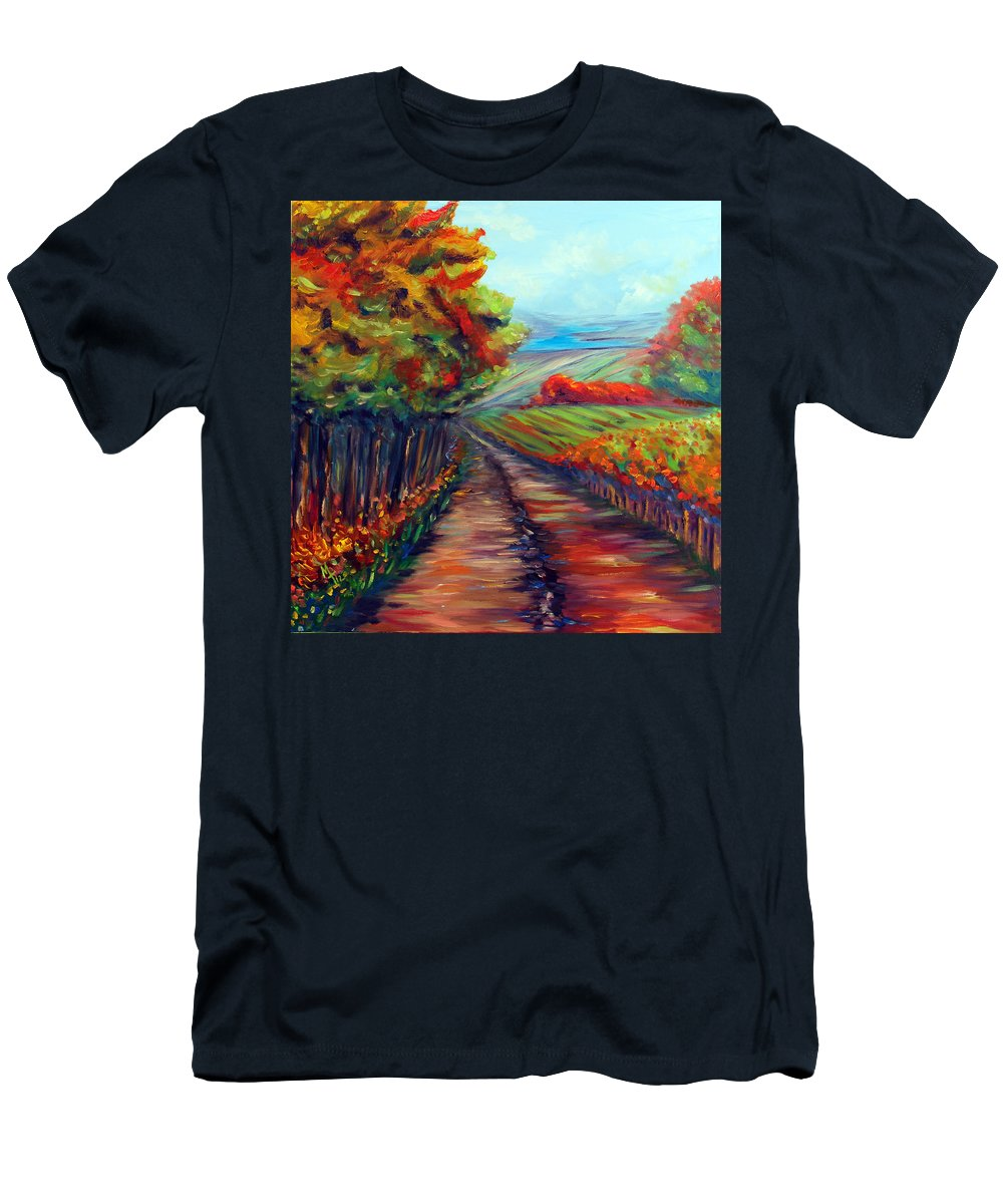 Landscape Men's T-Shirt (Athletic Fit) featuring the painting He Walks With Me by Meaghan Troup