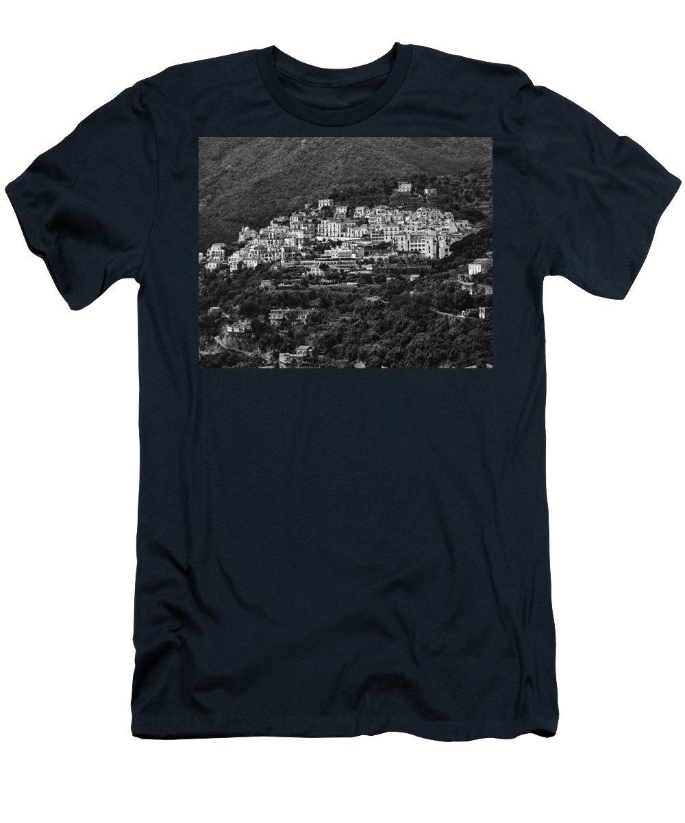 Amalfi Men's T-Shirt (Athletic Fit) featuring the photograph Hillside Amalfi Coast by Hugh Smith