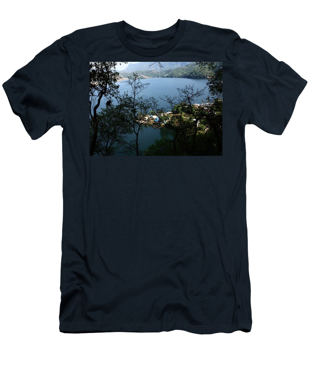 Nepal Men's T-Shirt (Athletic Fit) featuring the photograph Himalayan Lake - Nepal by Aidan Moran