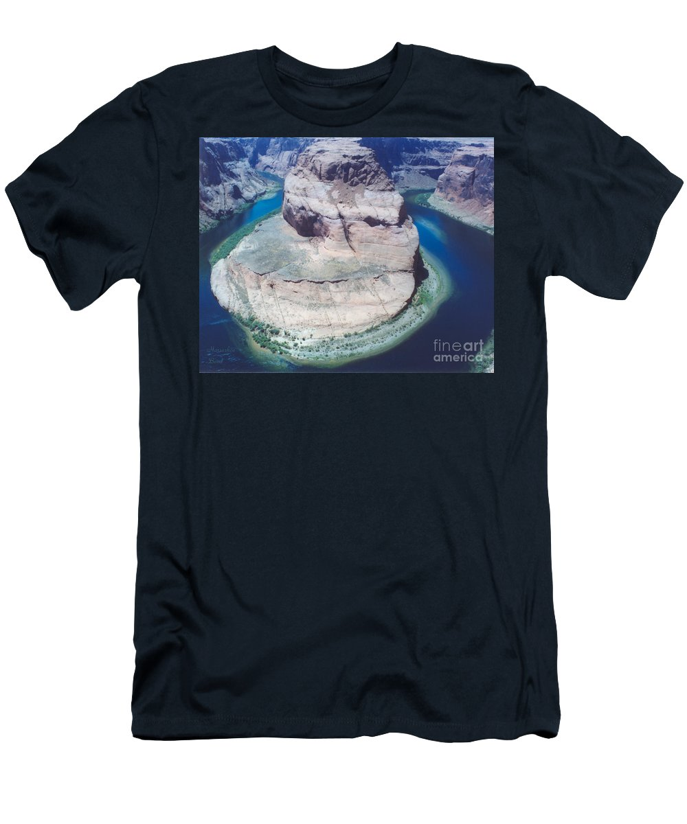 Horseshoe Bend Men's T-Shirt (Athletic Fit) featuring the photograph Horseshoe Bend by Heather Kirk