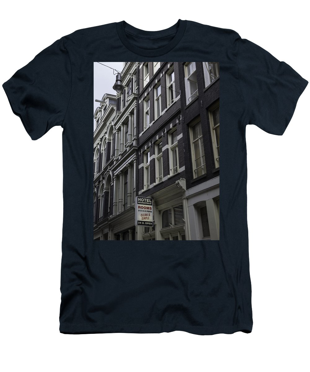2014 Men's T-Shirt (Athletic Fit) featuring the photograph Hotel Rooms Clean And Simple Amsterdam by Teresa Mucha