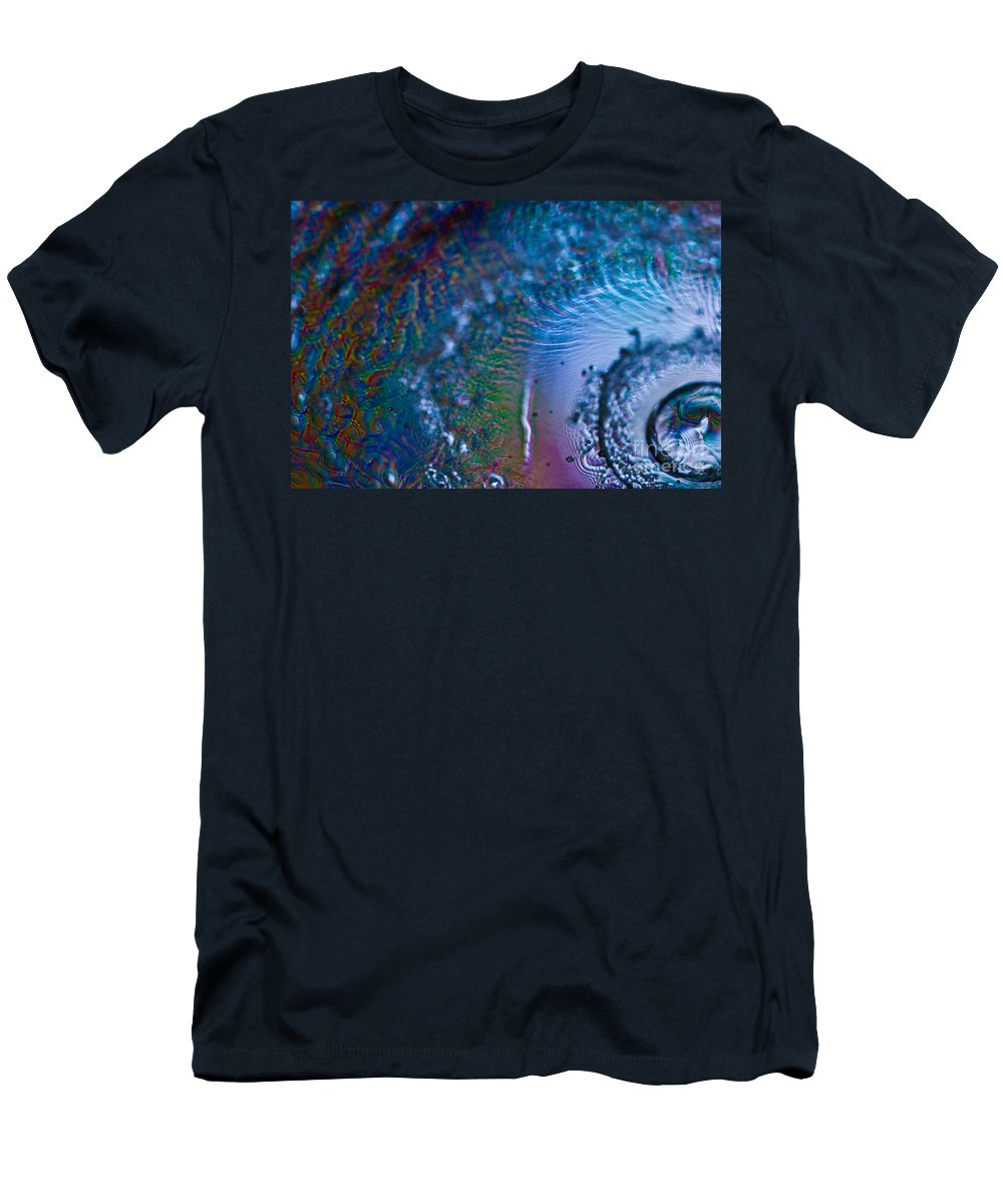 Abstract Men's T-Shirt (Athletic Fit) featuring the photograph Hurricane by Anthony Sacco