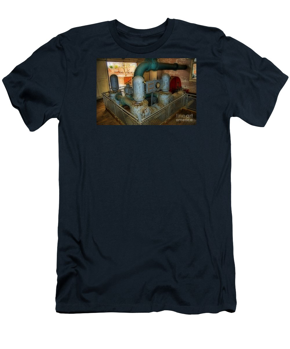 Scenic Tours Men's T-Shirt (Athletic Fit) featuring the photograph Hydro Power by Skip Willits