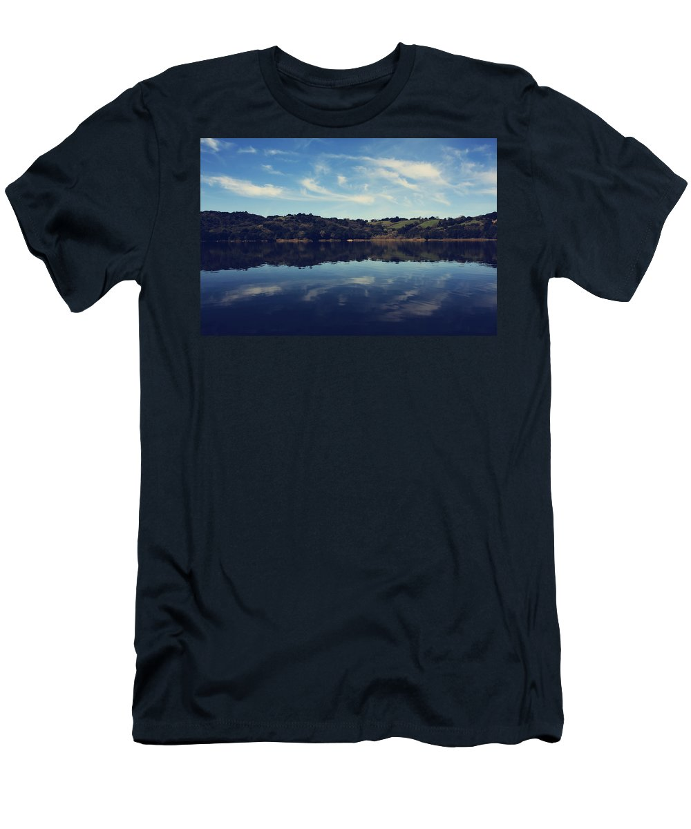 Lafayette Reservoir Recreation Area Men's T-Shirt (Athletic Fit) featuring the photograph I Float On Anyway by Laurie Search
