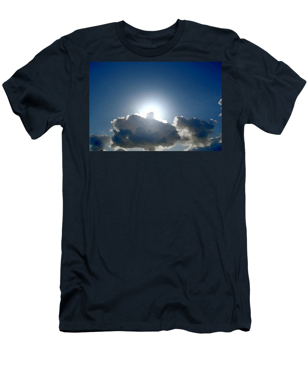 Clouds Men's T-Shirt (Athletic Fit) featuring the photograph iCloud by Marcello Cicchini