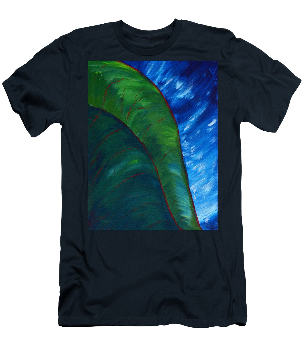 Jungle Men's T-Shirt (Athletic Fit) featuring the painting In The Jungle by Donna Blackhall