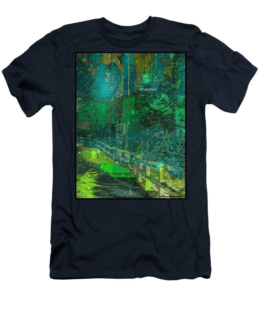 Nature Men's T-Shirt (Athletic Fit) featuring the photograph Into The Wild by Ellen Cannon