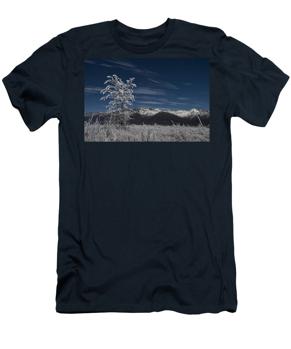 Knik River Men's T-Shirt (Athletic Fit) featuring the photograph Isolated by Ted Raynor