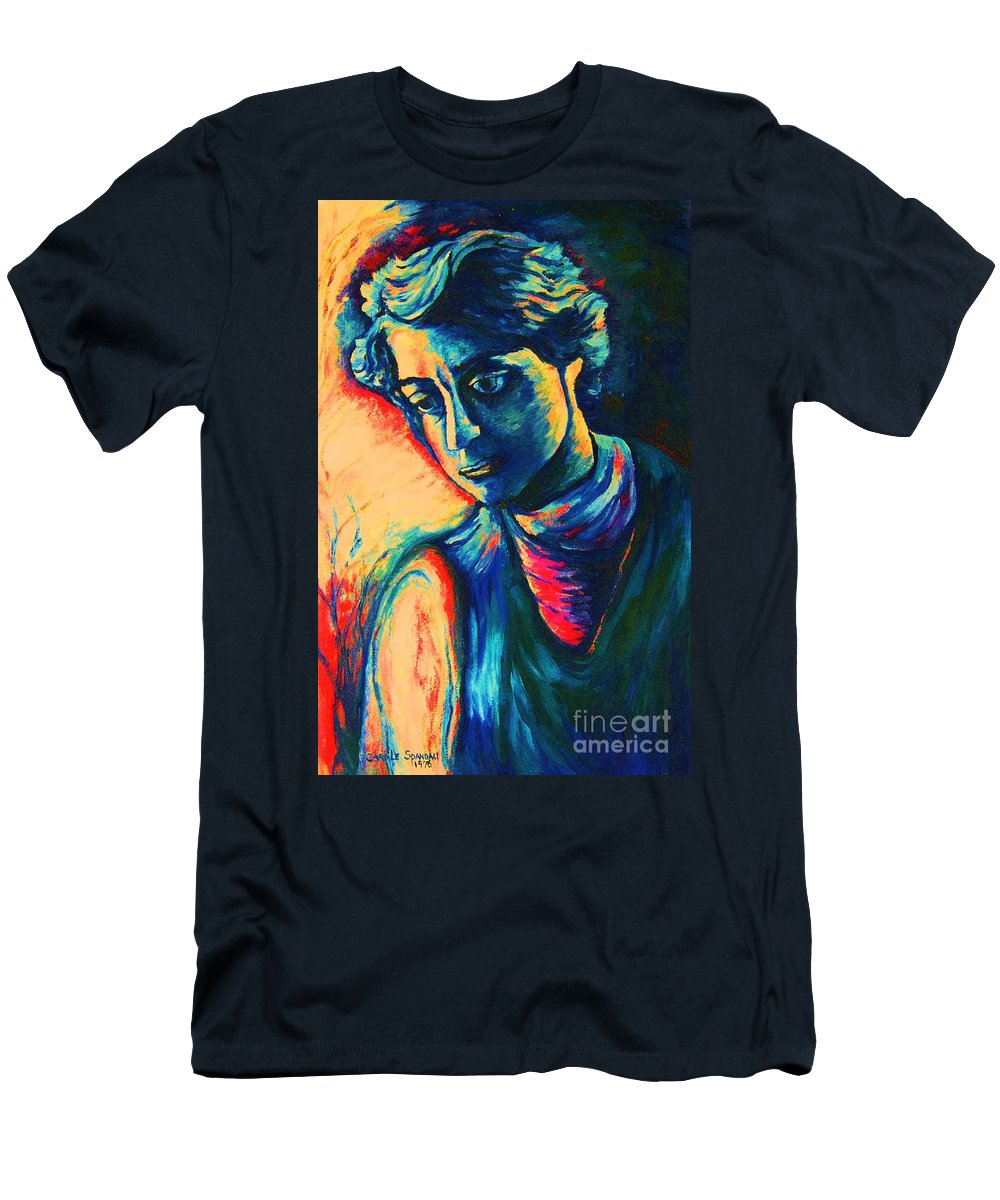 Joseph From The Bible Men's T-Shirt (Athletic Fit) featuring the painting Joseph The Dreamer by Carole Spandau