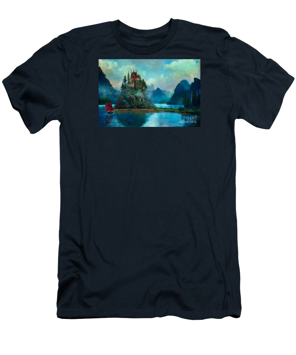 Aimee Stewart T-Shirt featuring the digital art Journeys End by MGL Meiklejohn Graphics Licensing