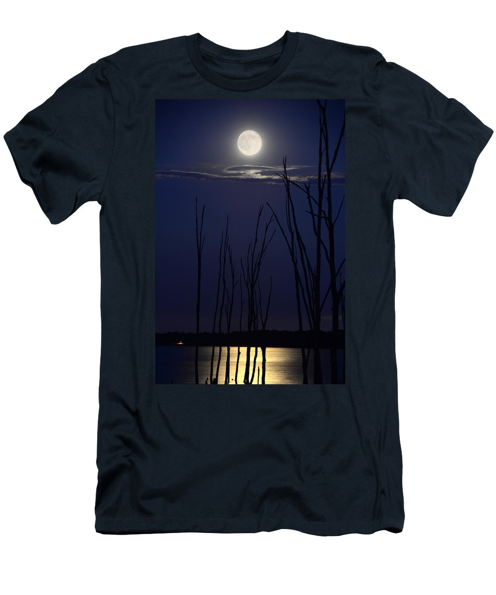 July 2014 Super Moon Men's T-Shirt (Athletic Fit) featuring the photograph July 2014 Super Moon by Raymond Salani III